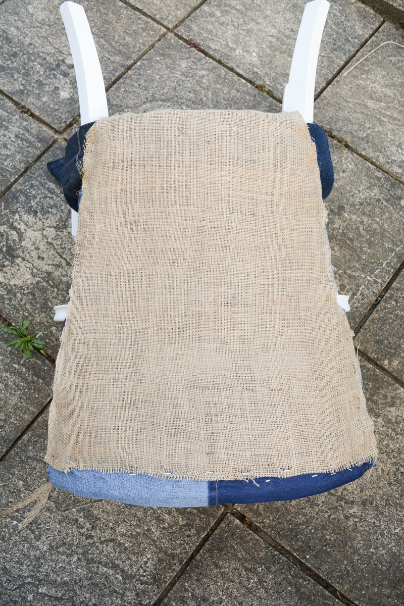 Denim Upcycled Bedroom Chair 26