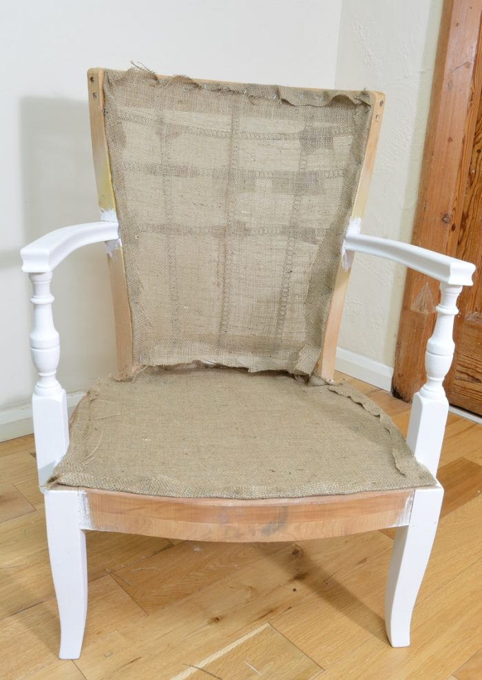 Denim Upcycled Bedroom Chair 14
