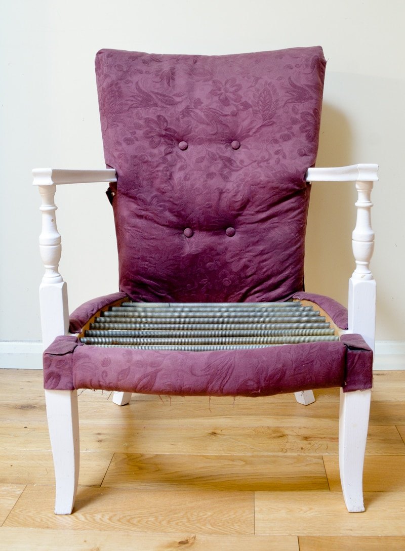 Denim Upcycled Bedroom Chair 2