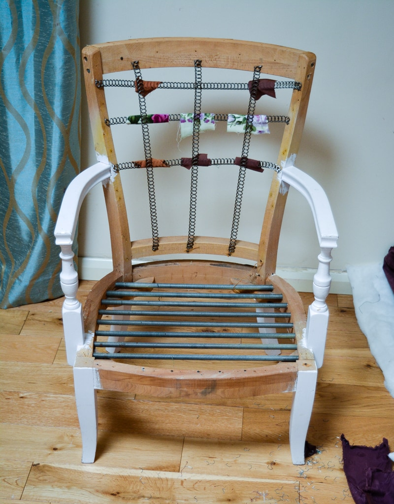 Denim Upcycled Bedroom Chair 8