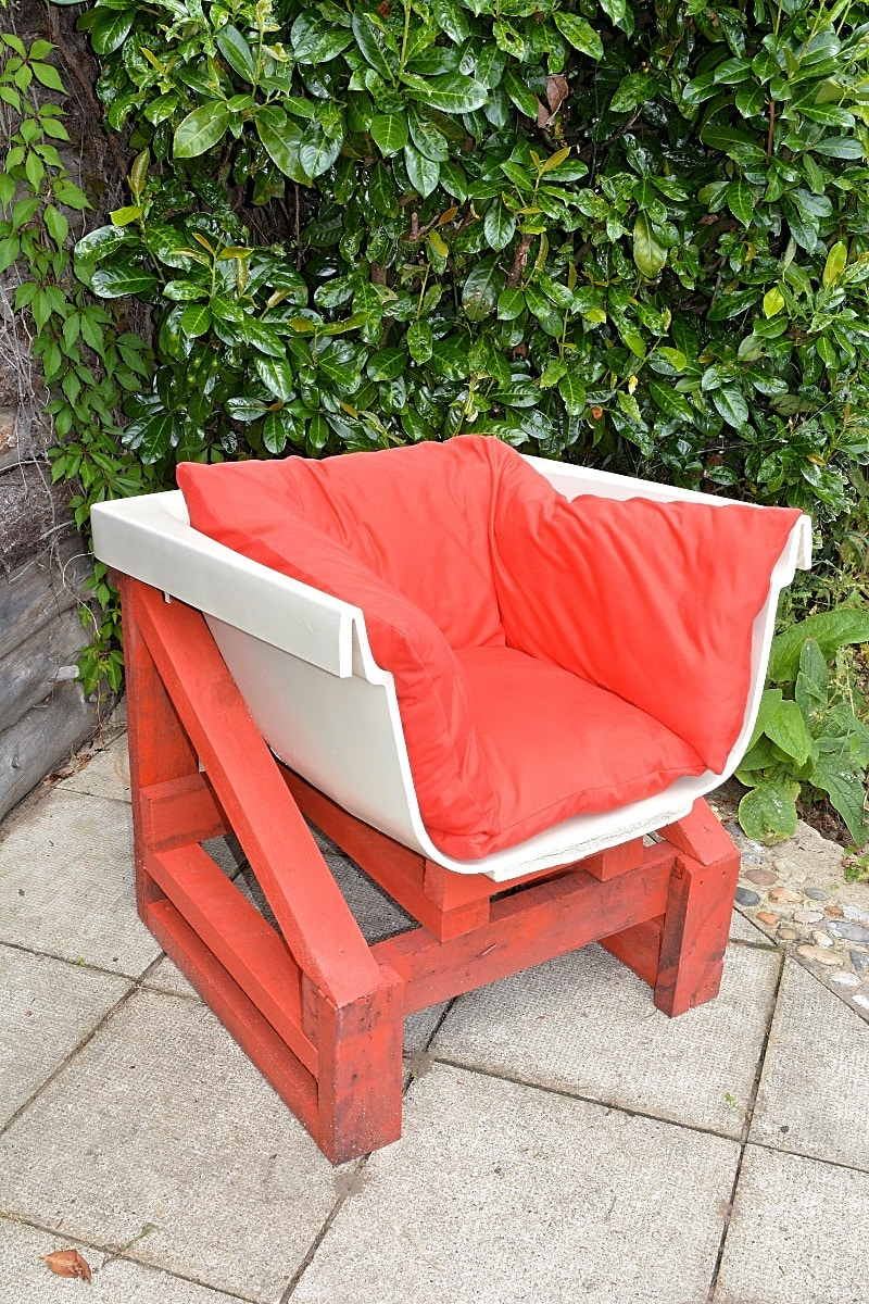 DIY Upcycled Bath Chair, Step by step instructions, upcycled bath seat tutorial
