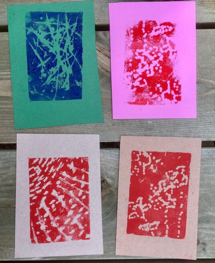Exploring printing- crafting with tweens 2