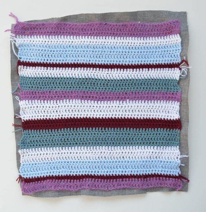 Easy Crochet Cushion- for the none crochetter 10