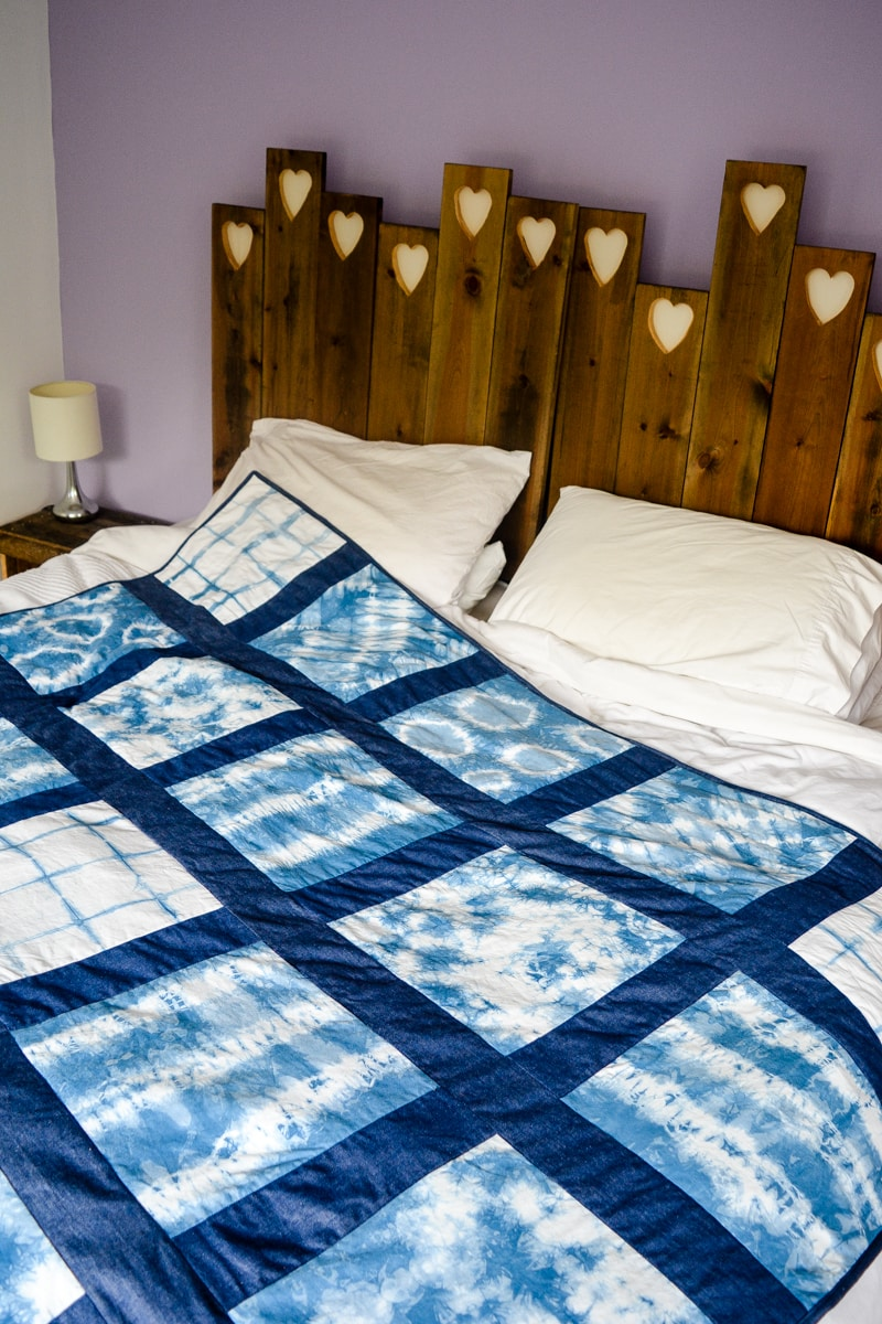 DIY Shibori Quilt, transform old duvet covers 18