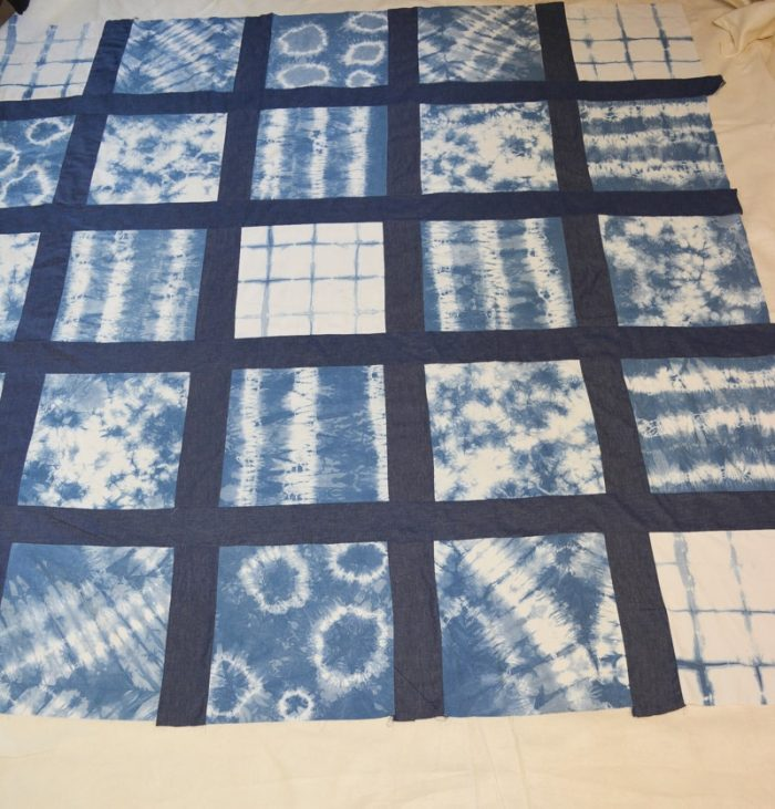 DIY Shibori Quilt, transform old duvet covers 16