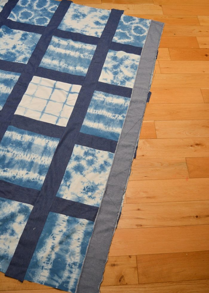 DIY Shibori Quilt, transform old duvet covers 14