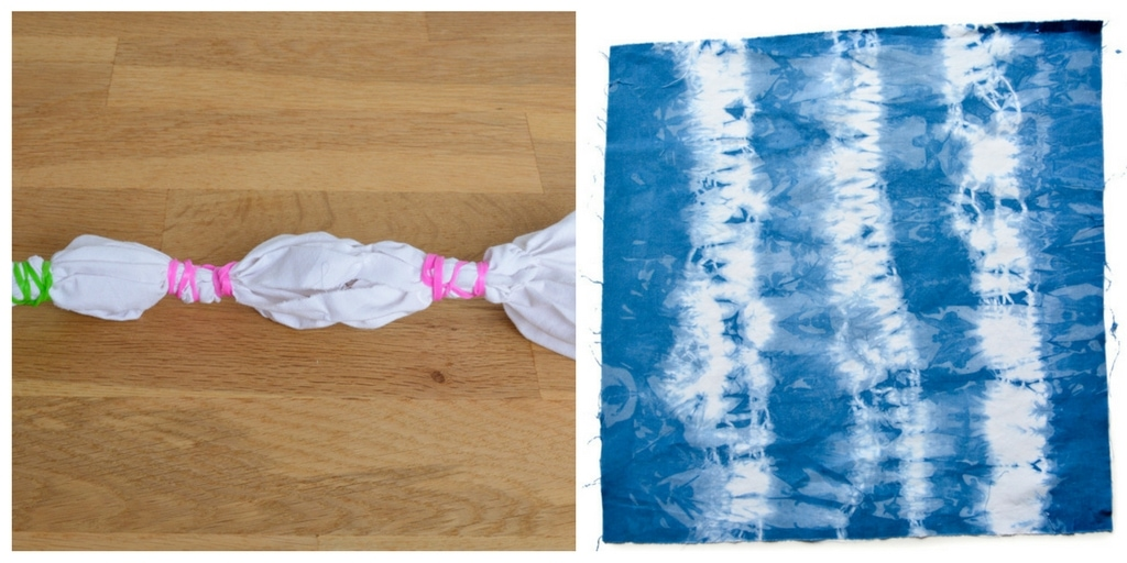 DIY Shibori Quilt, transform old duvet covers 6