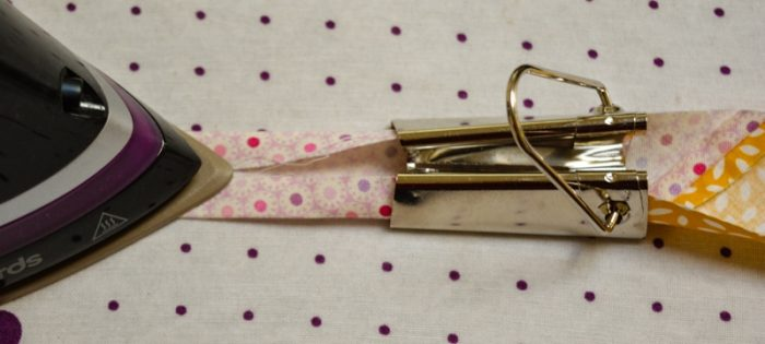 Update old towels with scrap fabric bias binding 12