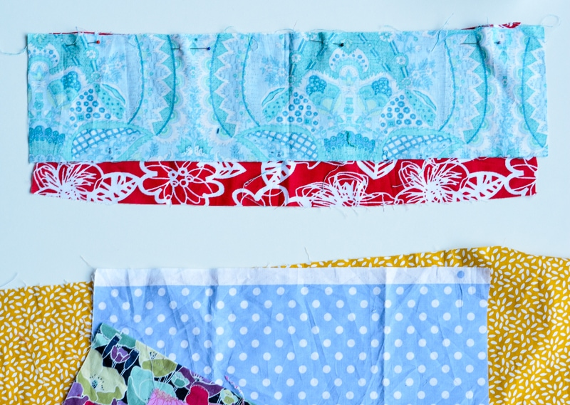 Update old towels with scrap fabric bias binding 2