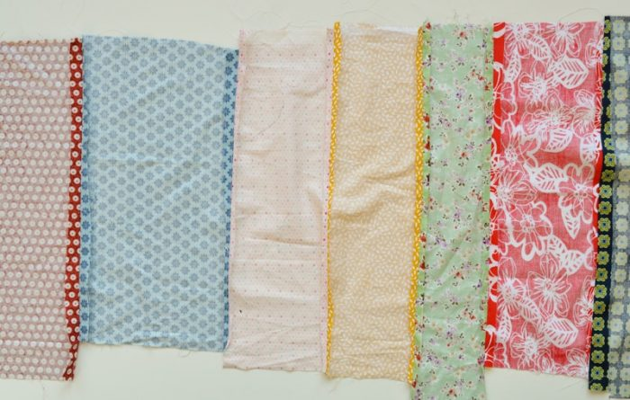Update old towels with scrap fabric bias binding 4