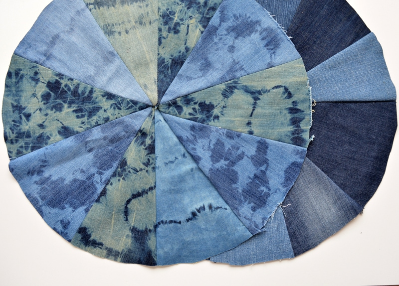 how to make a denim floor cushion