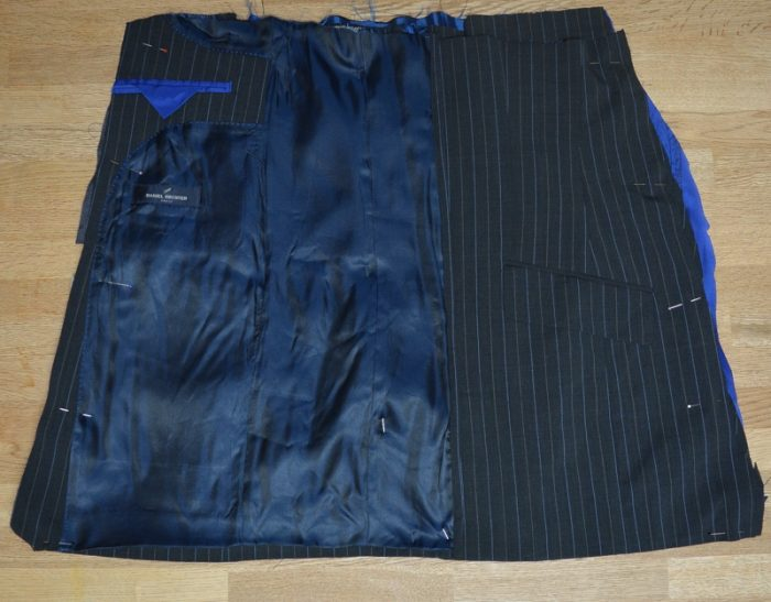 Suit jacket refashioned into a A line skirt 12