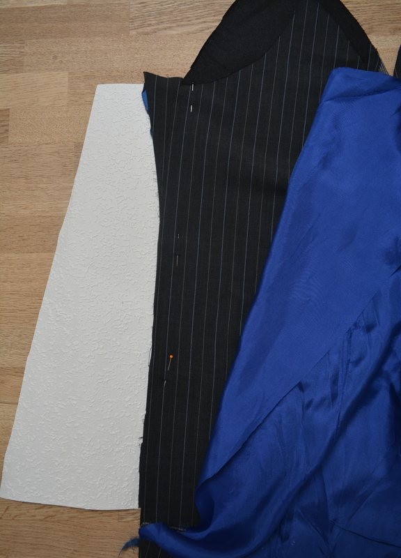 Suit jacket refashioned into a A line skirt 10