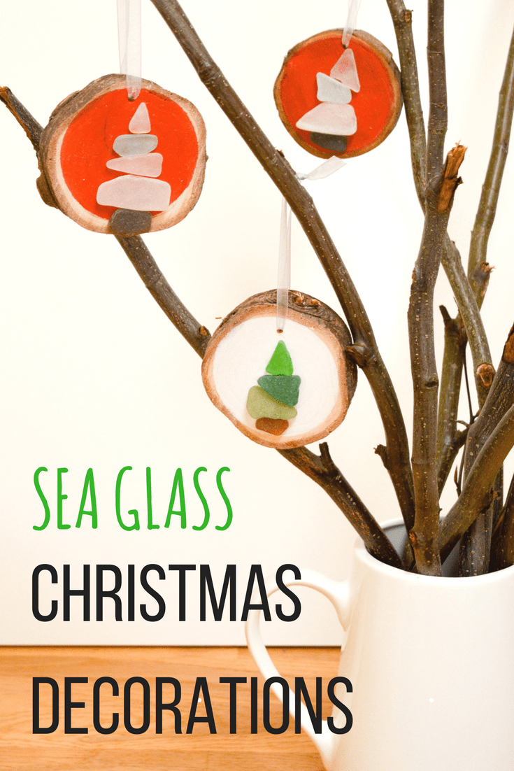 How to make Sea Glass Christmas Decorations 6