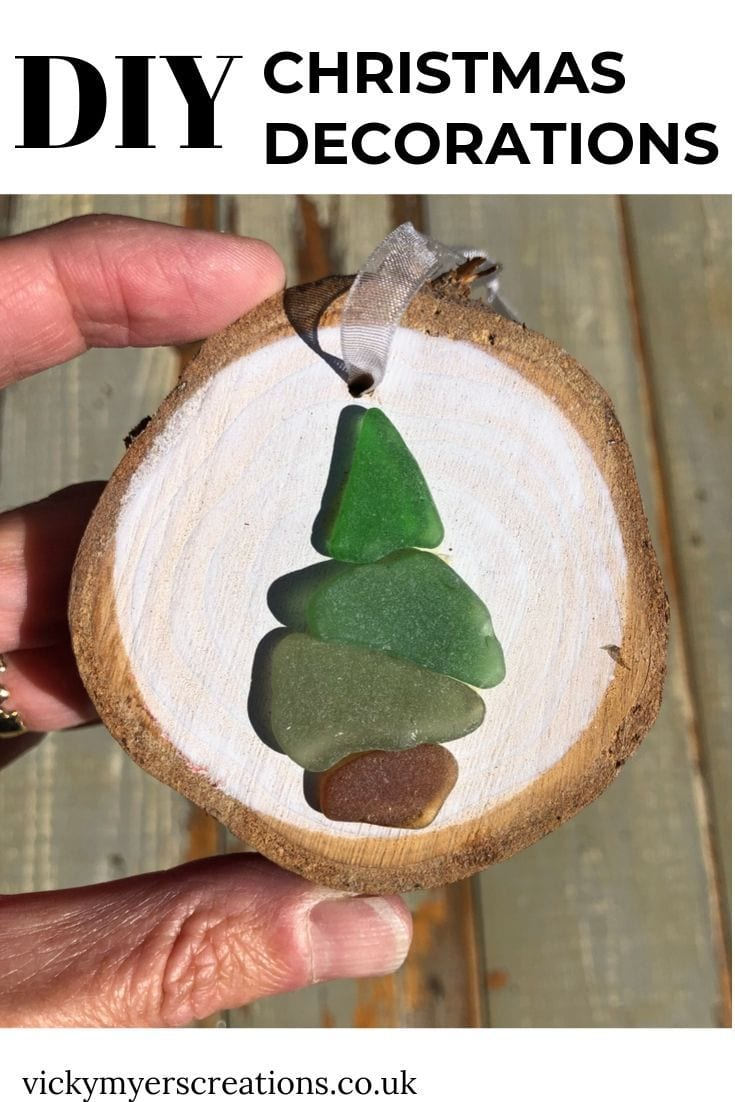 How to make Sea Glass Christmas Decorations 2
