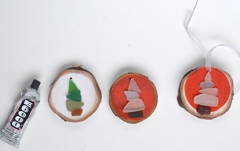 How to make Sea Glass Christmas Decorations 20