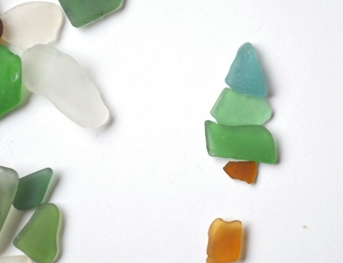 How to make Sea Glass Christmas Decorations 18