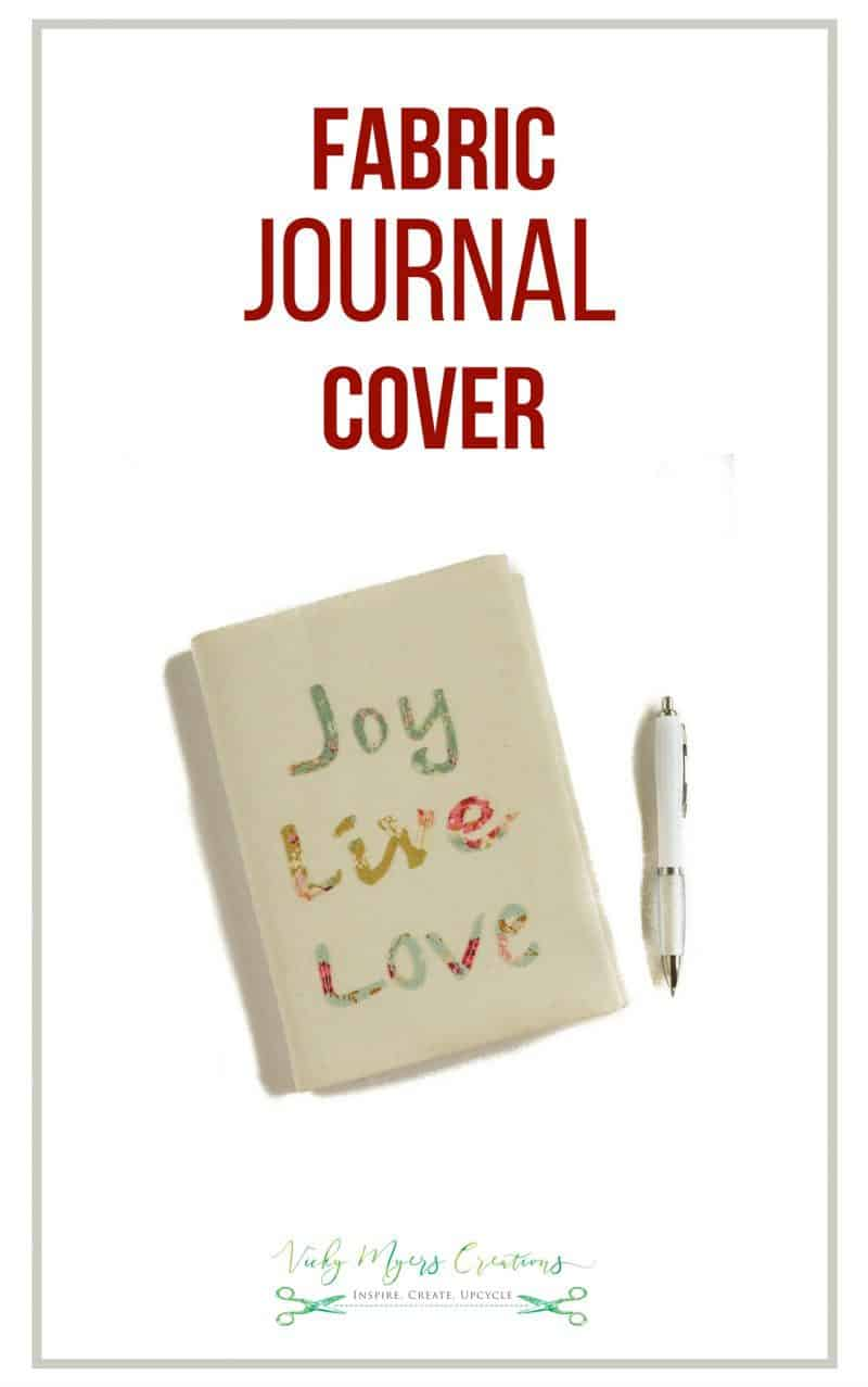 Fabric Covered Journal DIY - Last Minute Gift Idea 4