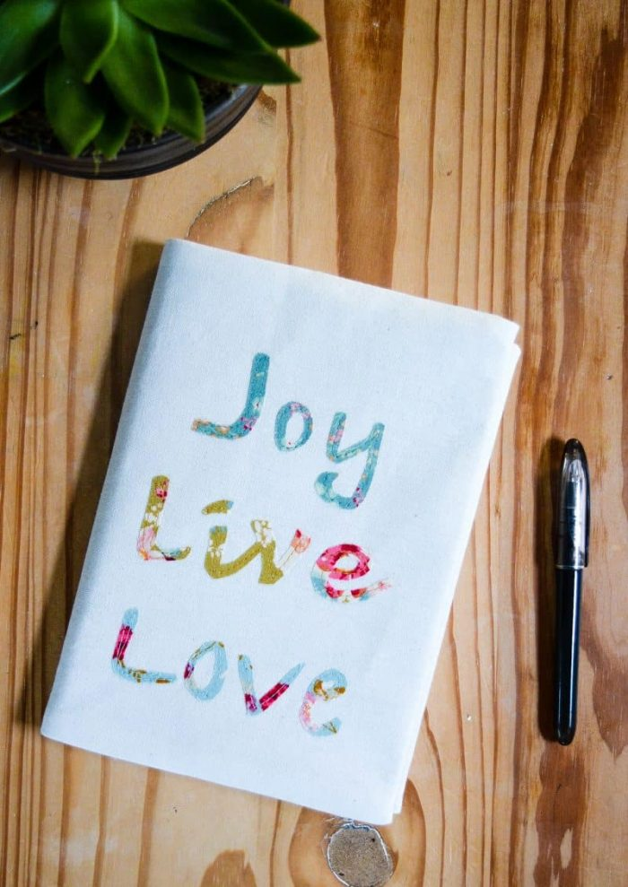 Fabric Covered Journal DIY - Last Minute Gift Idea 10