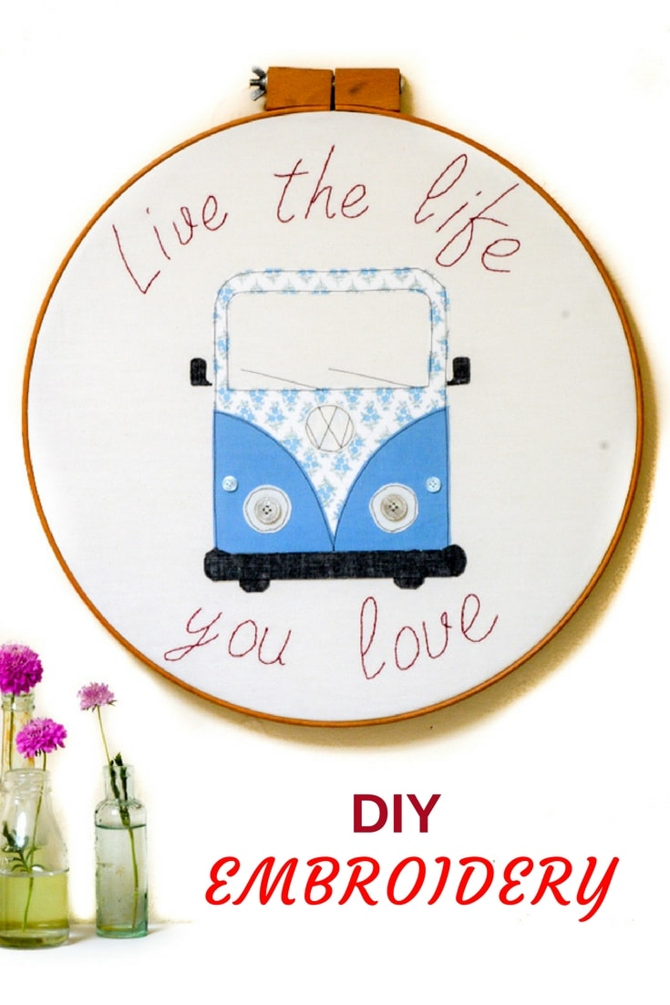 DIY Campervan Wall Art, free downloadable template