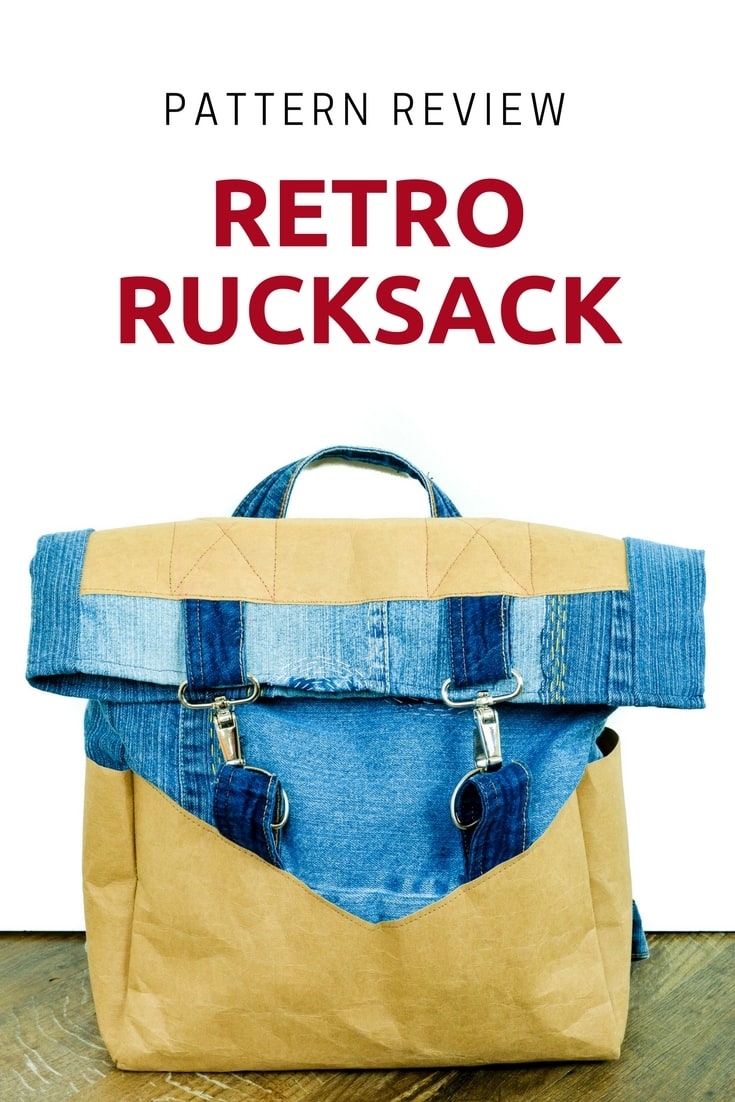 Sew yourself a rucksack using the Retro Rucksack Pattern. Full review of the pattern. Learn from my mistakes! Retro Rucksack Pattern review
