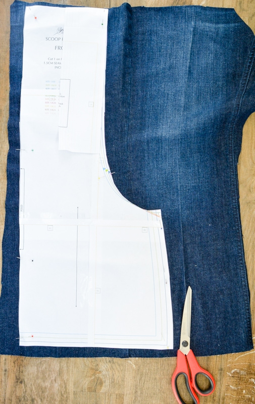 Scoop Pinafore Pattern Review, what can you make with four pairs of jeans? 8