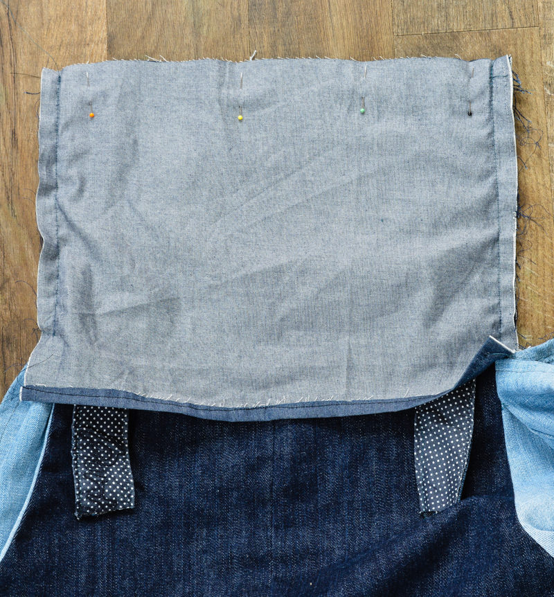 Scoop Pinafore Pattern Review, what can you make with four pairs of jeans? 22