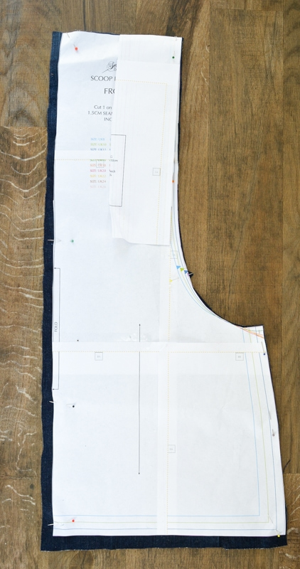 Scoop Pinafore Pattern Review, what can you make with four pairs of jeans? 10