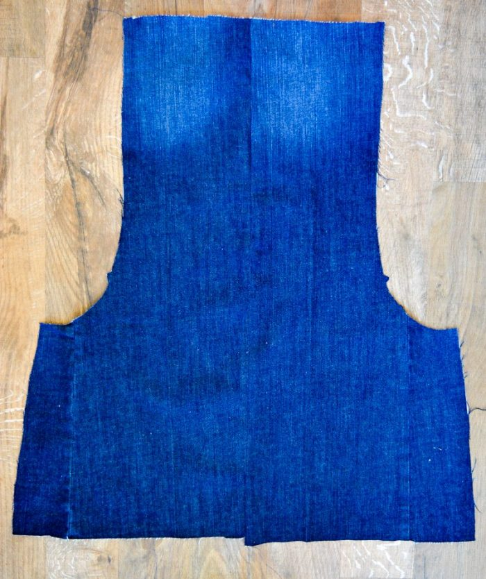 Scoop Pinafore Pattern Review, what can you make with four pairs of jeans? 12