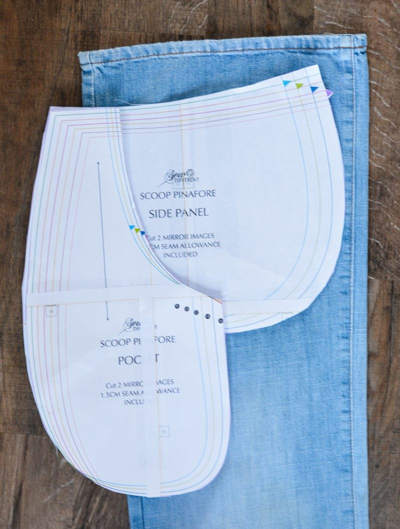 Scoop Pinafore Pattern Review, what can you make with four pairs of jeans? 14