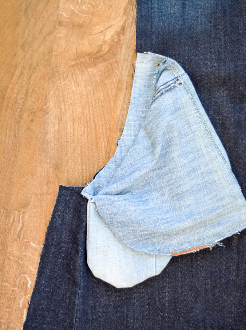 Scoop Pinafore Pattern Review, what can you make with four pairs of jeans? 18