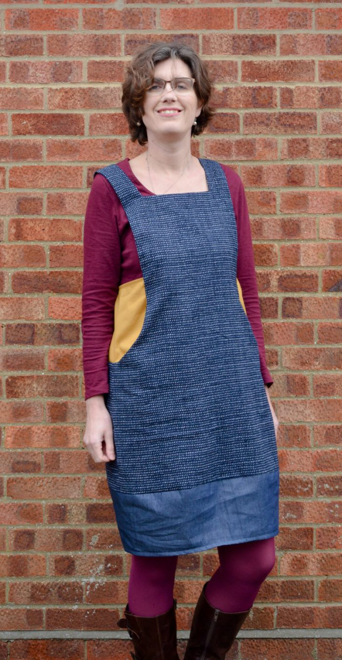 Scoop Pinafore Pattern Review, what can you make with four pairs of jeans? 4