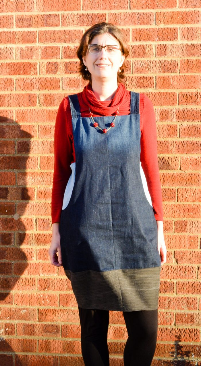 Scoop Pinafore Pattern Review, what can you make with four pairs of jeans? 26