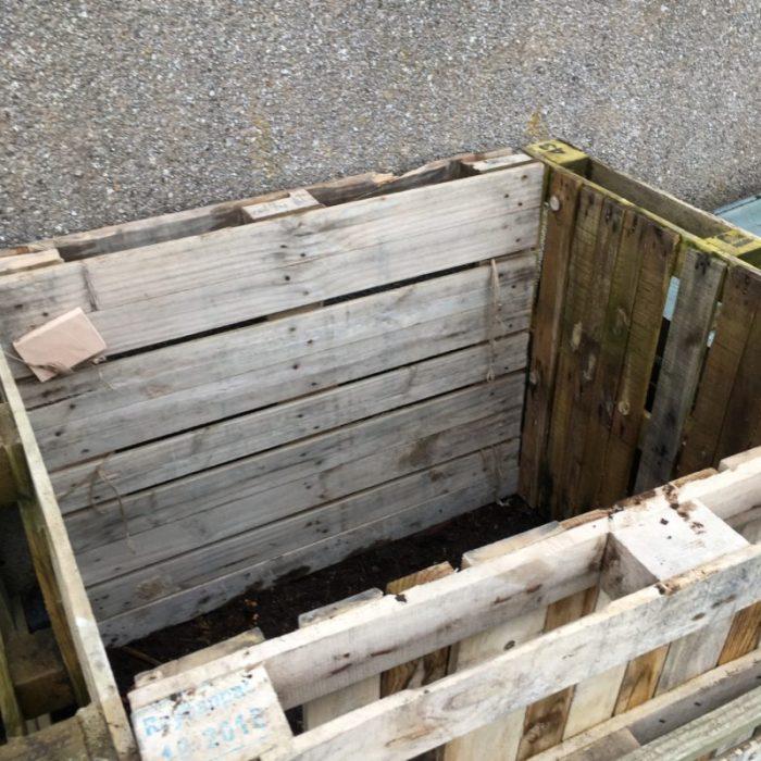 DIY pallet compost bin