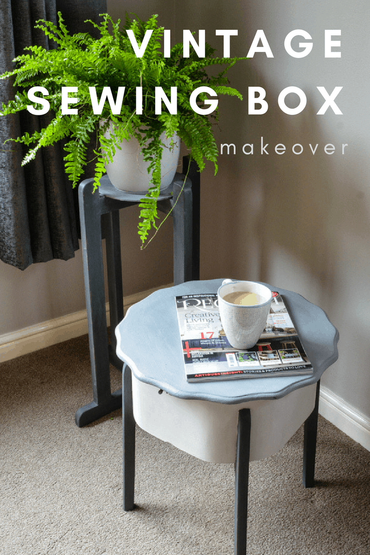 Wooden Sewing Box With Legs Makeover 6