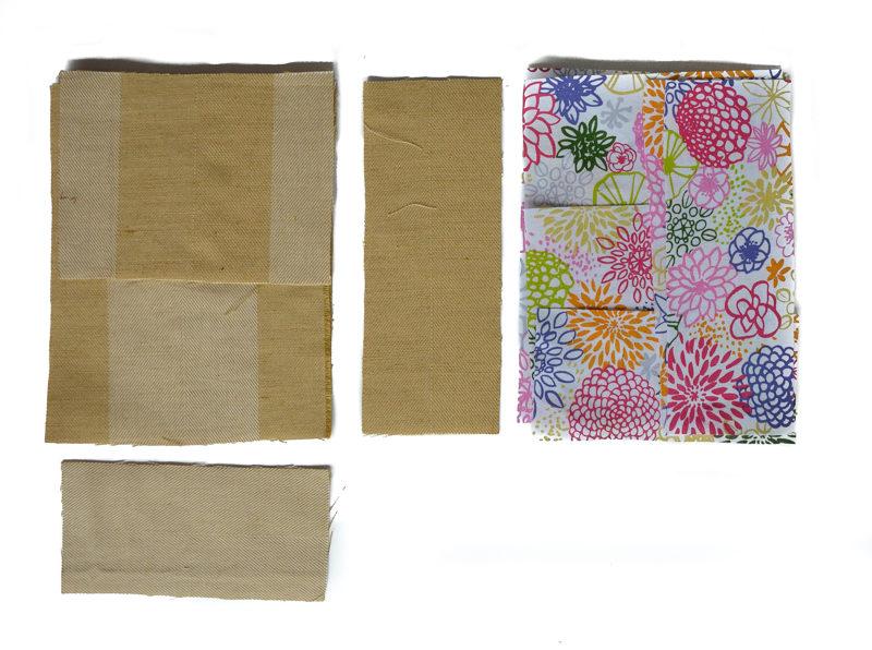 free reversible toddler bag pattern - pattern pieces