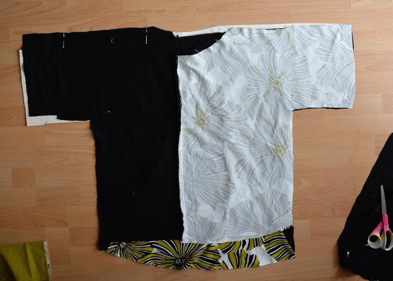 DIY Dress refashion into a kamino top #restylingexchange2018 18