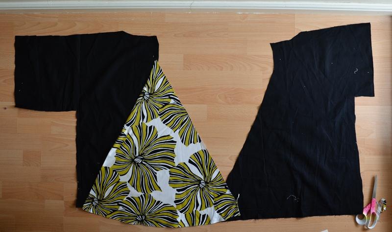 DIY Dress refashion into a kamino top #restylingexchange2018 14