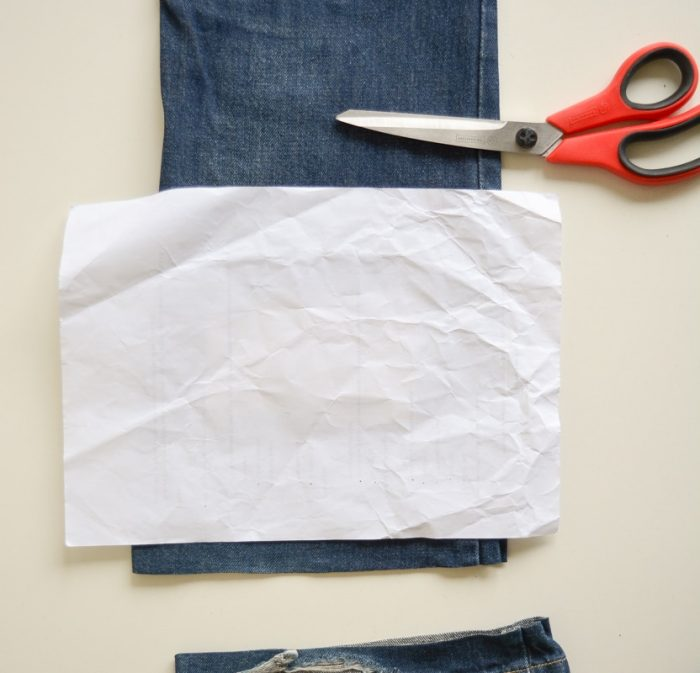DIY Denim Curtains - how to make lined curtains 6