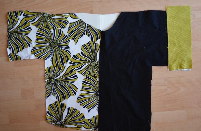 DIY Dress refashion into a kamino top #restylingexchange2018 10