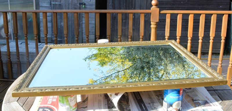 How to paint over a gold mirror frame with Fusion Mineral paint 4