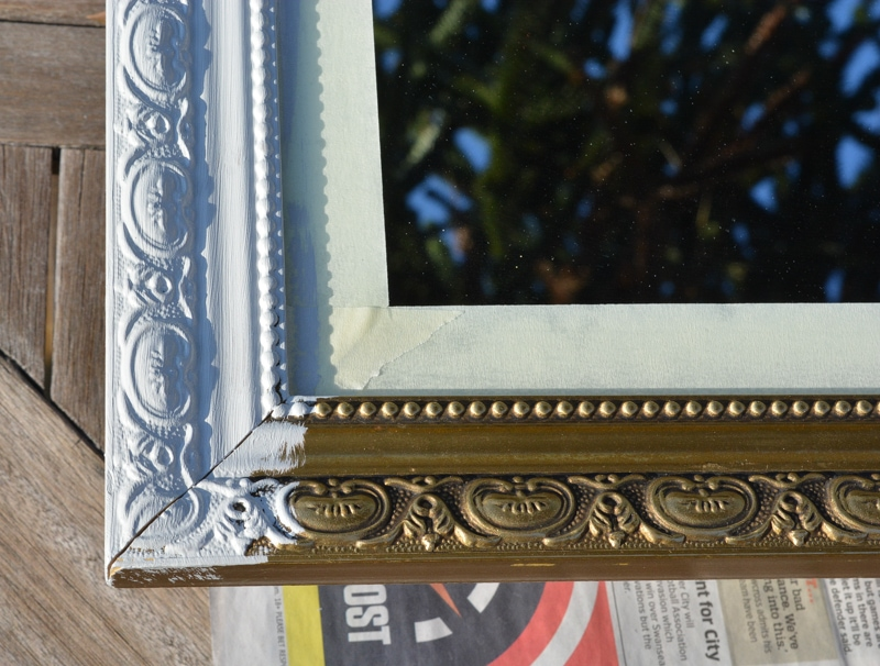 How to paint over a gold mirror frame with fusion mineral paint