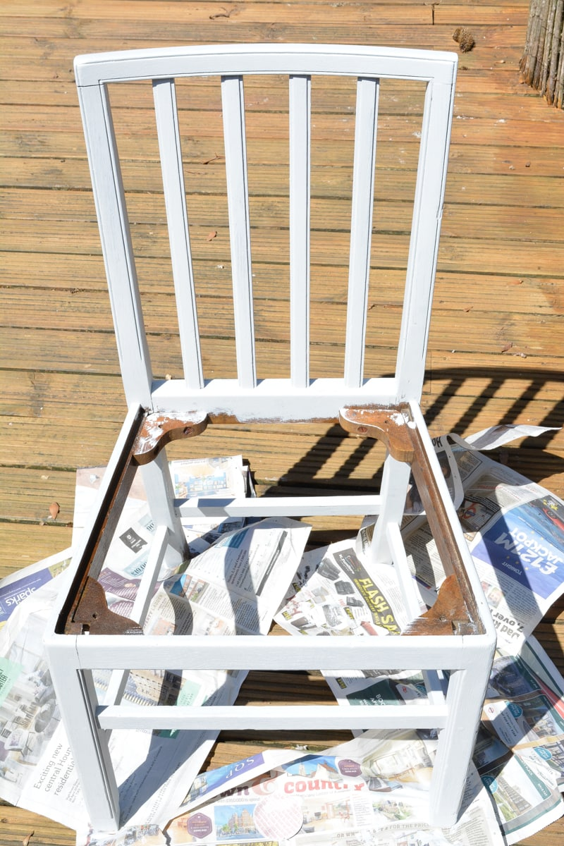 fusion mineral paint base chair How to use denim to reupholster a dining room chair