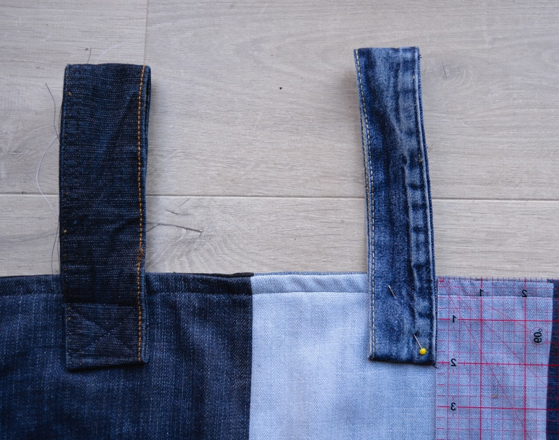 DIY Denim Curtains - how to make lined curtains 30