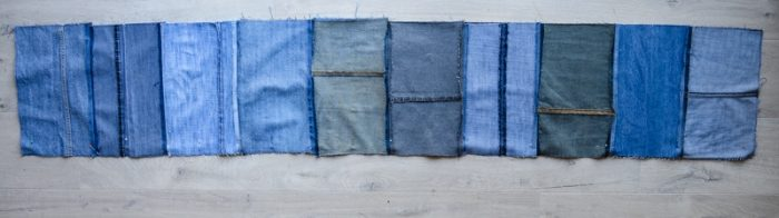 DIY Denim Curtains - how to make lined curtains 18