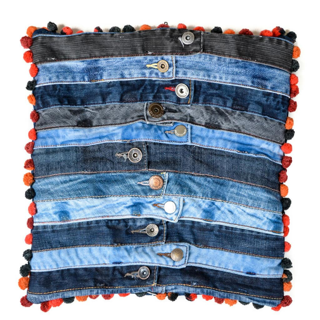 Recycled Denim Waistband Cushion
