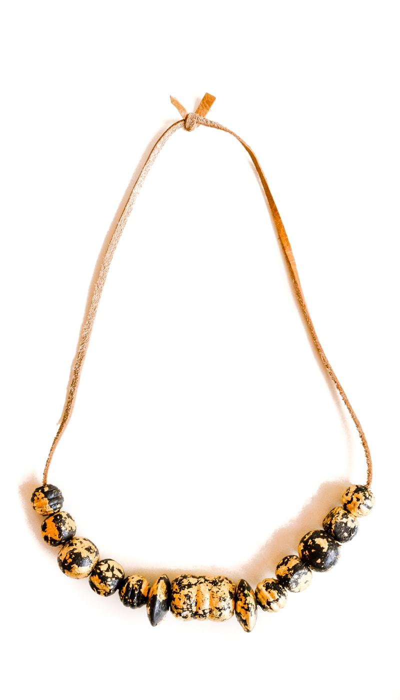 DIY Gold Leaf Necklace 12