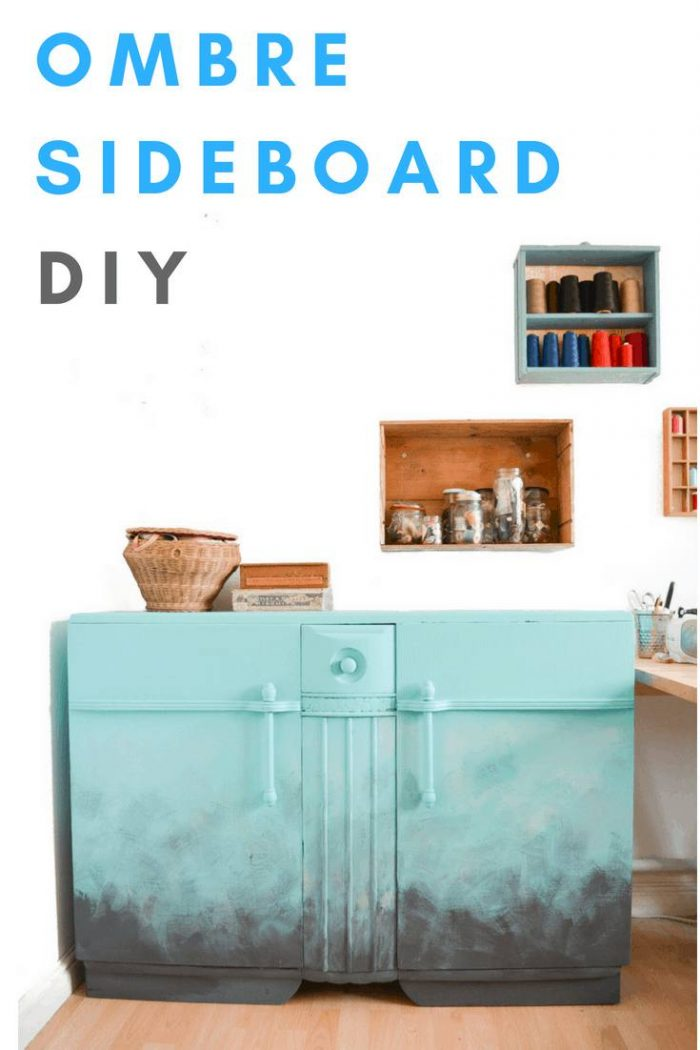 Stuck for ideas for your old sideboard? Use fusion mineral paint to create a stunning ombre effect, its easy! Have a go, click through for a video tutorial #upcycleideas #furnitureDIY