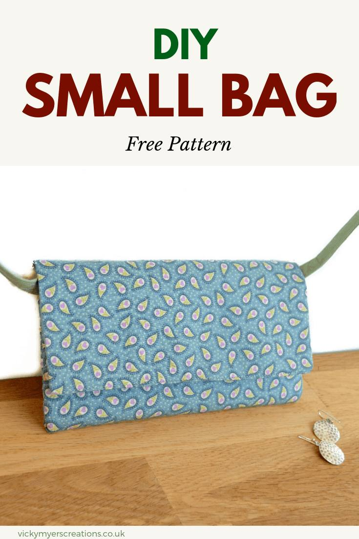 Learn how to sew this small bag, perfect for a night out - it holds keys, wallet an mobile. Have fun sewing up your own cross body bag with a fat quarter. #freebagpattern #bagtutorial