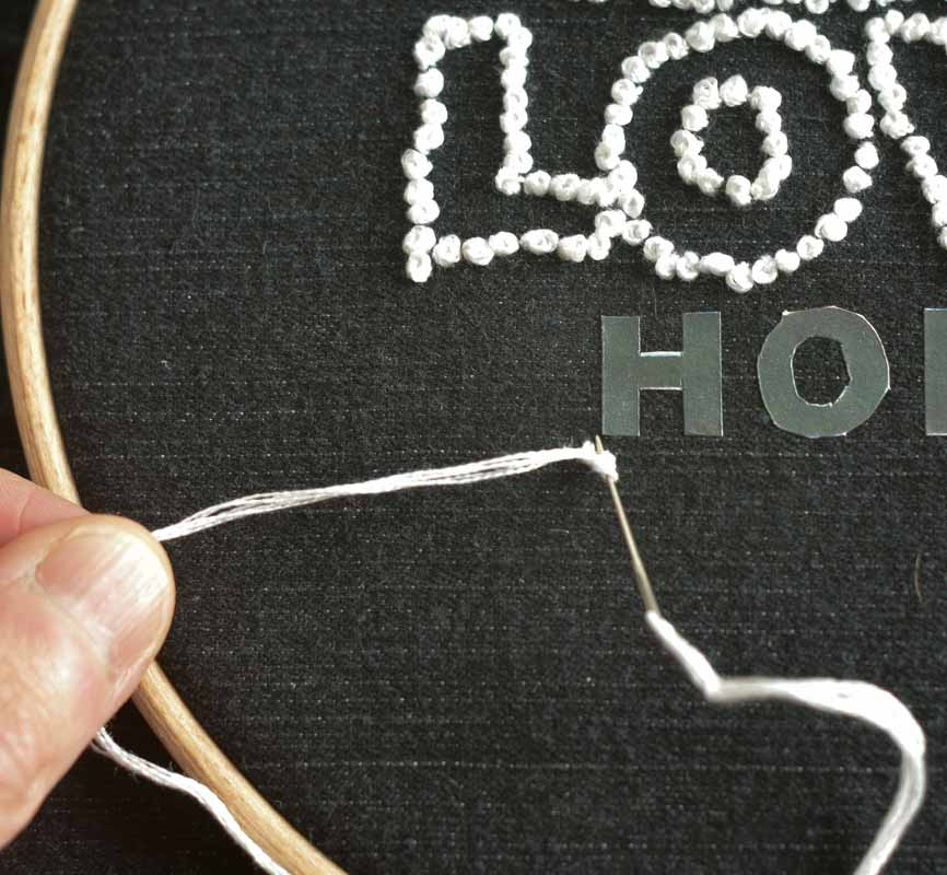 Denim Embroidery Hoop Art Tutorial 16